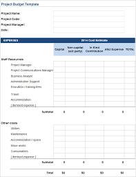 budget estimate templates