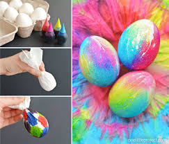 how to color easter eggs tie dye easter eggs simple tie dyed easter eggs using paper towel