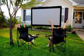 backyard theater screen home outdoor decoration