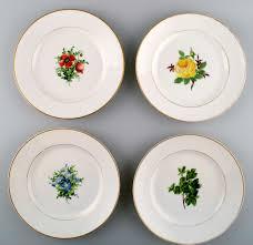 worldantique net 4 antique royal copenhagen flat plates in flora