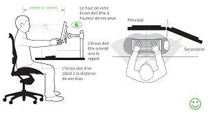 ergonomie bureau ordinateur comment agencer bureau de façon ergonomique et matériel
