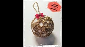 how to crochet christmas tree ornament idea 1 youtube