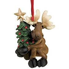 big sky carvers tree hugger moose ornament home kitchen