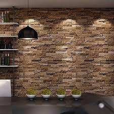 Washable Wallpaper For Kitchen Backsplash by Birwall Cultural Faux Brick Stone Wallpaper 3d Kitchen Living Home