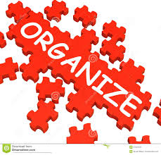 arranging organize puzzle shows arranging or organizing stock photo image