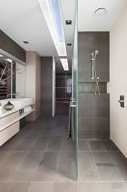modern master bathroom with edimax sands 12 x 24 grey