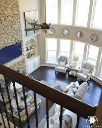 two story living room two story living room with bow of windows kelley nan