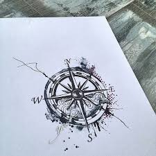 18 best compass stencil tattoo designs for women images on