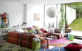 delightful living room interior decoration with color full u shape