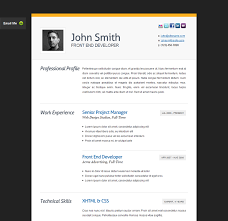 resume website template the best free premium cv resume website template evohosting