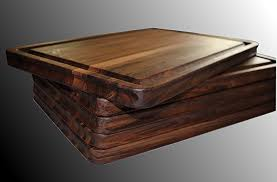 walnut cutting board large edge grain