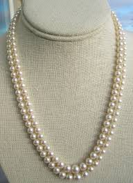 pearl necklace double strand images Mikimoto double strand princess length cultured pearl necklace jpg
