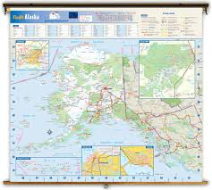 Anchorage Alaska Map by Alaska State Reference Wall Map From Geonova
