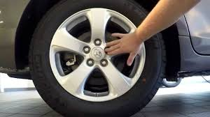 how to change a tire on a toyota sienna youtube