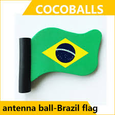 Car Antenna Flags Cocoballs 6pcs Lot Red Flag Aerial Toppers Foam Balls Choose