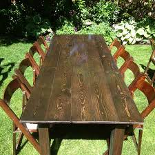 table and chair rentals utah classic fruitwood table all out event rental