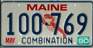 Maine State Vanity Plates Combination Maine License Plate Gallery