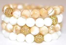 gemstone bead bracelet images Mother of pearl semi precious gemstone beaded bracelets jpg