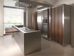 metal kitchen furniture stainless steel and wood kitchens archiproducts