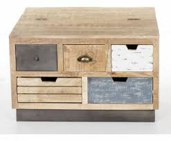industrial square coffee table industrial square coffee table trunk with drawers