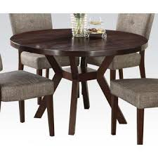 Round Espresso Dining Table Acme United Espresso Finish 5pc Dining Set Round Dining Table