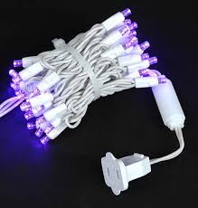 white wire wide angle purple 50 bulb led lights sets 11