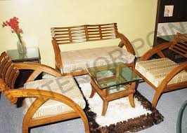 Wooden Sofa Set - Teak wood sofa set designs