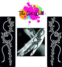 popular henna stickers tattoo body art mehndi stencils template