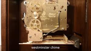 Howard Miller Chiming Mantel Clock Howard Miller Kieninger Sew01 Triple Chime Movement Youtube