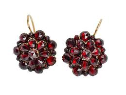 garnet earrings beauty antique bohemian garnet earrings