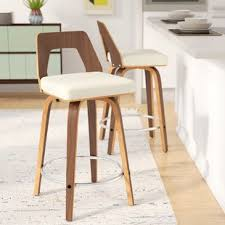 Modern Wood Bar Stool Mid Century Modern Bar Stools You Ll Wayfair