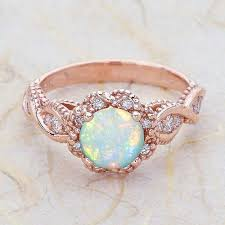 beautiful women rings images Vova gorgeous rose gold ring rare beautiful fire opal diamond jpg