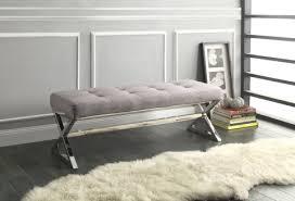 X Bench Ottoman Amazon Homelegance 4605gy Metal Base Bench Grey X Bench X Bench