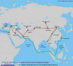 Silk Road Map Travel History Marco Polo The World U0027s First Great Travel Writer