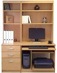 Home Office Furniture UK Computer Workstation Desk HUTCH Bookcase