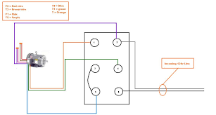 single phase motor wiring diagram 4 wire circuit and schematics