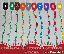 christmas sticks with lights christmas lights math activity for preschool the preschool toolbox