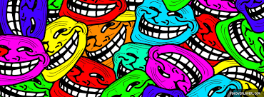 Meme Faces On Facebook - colorful internet meme faces facebook cover fbcoverlover com