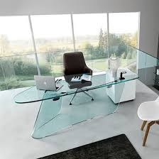 Walmart Glass Desk by Office Fascinating Glass Desk Contemporary Transparent Glass