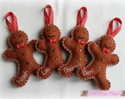 felt gingerbread ornaments diy kits for crafts