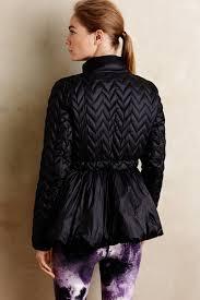 vimmia peplum puffer jacket in black lyst