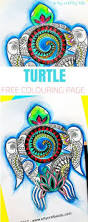 color sea turtle underwater scene free