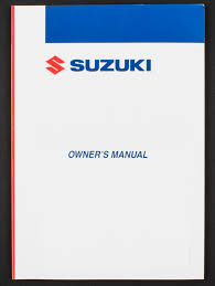 genuine suzuki motorcycle owners manual for dr125sm 2009 2010