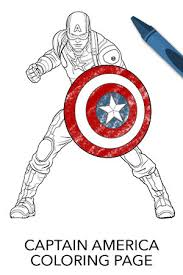 Avengers Captain America Coloring Page Disney Movies Captain America Coloring Page
