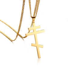 orthodox crosses plain russian orthodox cross pendant necklace for men women