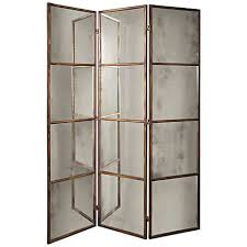 uttermost avidian 3 panel mirrored screen 3f605 lamps plus