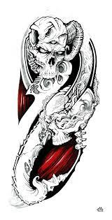skulls quarter sleeve by wilson419 on deviantart