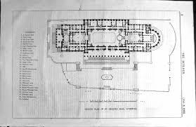 30 print ground plan st george u0027s hall liverpool architecture 1855