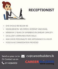 receptionist find or advertise jobs for free in toronto top jobs in colombo receptionist