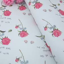wholesale wrapping paper rolls free shipping 5 sheet roll pink flower designs festival gift